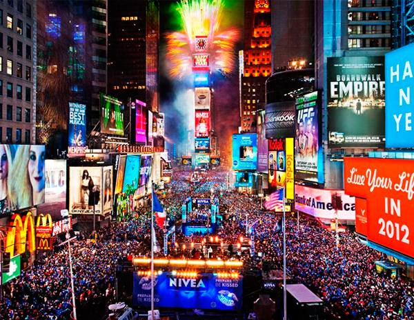Fin de año en Time Square